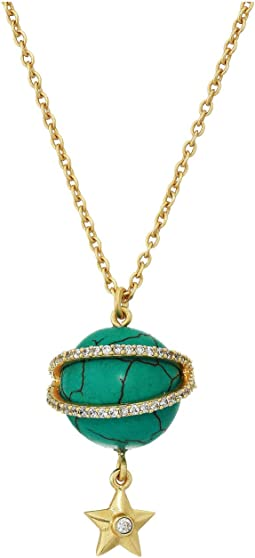 12K Soft Polish Gold/Crystal/Turquoise