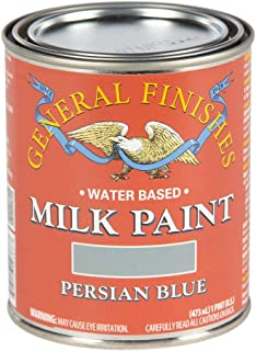 General Finishes PPB Water Based Milk Paint, 1 Pint, Persian Blue