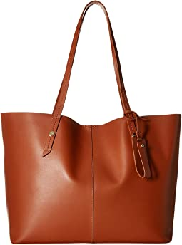Smooth Leather Unlined E/W Tote