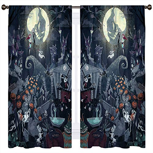 SSKJTC The Nightmare Before Christmas - Cortinas opacas para ventana (140 x 115 cm)