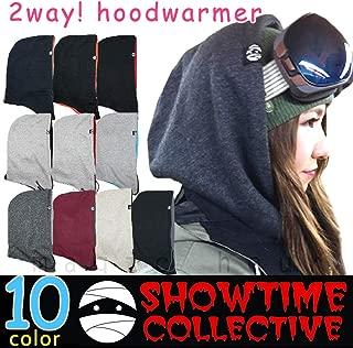 フードウォーマー スノーボード フェイスマスク ネックウォーマー バラクラバ SHOWTIME COLLECTIVE(ショウタイム コレクティブ) 無地 ソリッド スキー スノボ 裏 フリース フェイスガード