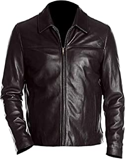 Leather 360 Men's Dark Brown Vintage Classic Leather Jacket