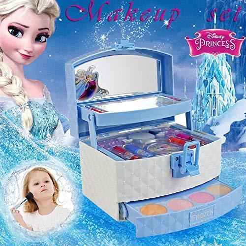 32 Stücke Mädchen Spielzeug, Kinderschminke Set Schminkkoffer Gefüllt, Disney Ice Princess Make-Up Spielzeug Set Für Mädchen Prinzessin - UNGIFTIG