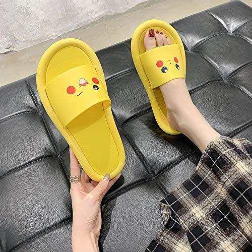 TDYSDYN Zapatos de Piscina Zapatos de Agua para baño,Zapatillas de baño para el hogar, Bonitas Zapatillas con Fondo suave-9-pequeño Amarillo_38-39