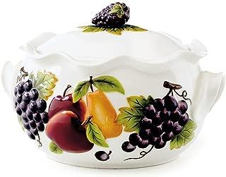 Celebrating Home Sonoma Villa Bean Pot (stoneware casserole dish) - oven, microwave & dishwasher safe