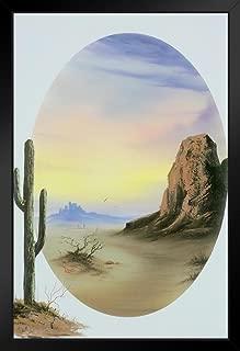 Bob Ross Desert Glow Art Print Painting Black Wood Framed Art Poster 14x20