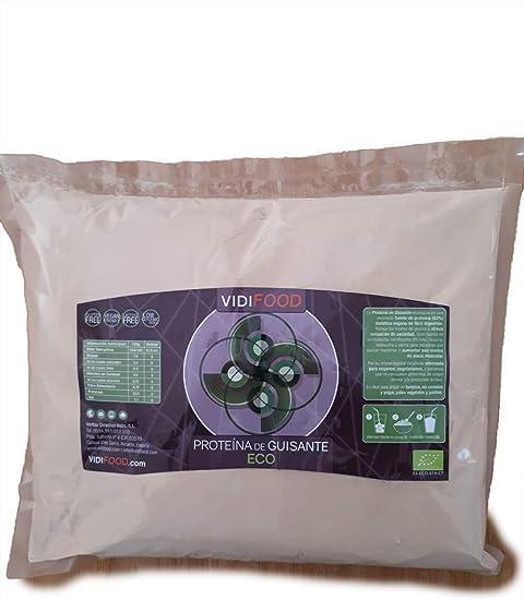 Proteína de Guisante ECO en Polvo | 1kg | Aumento de masa muscular y energía | 80% de proteínas y aminoácidos esenciales para el apoyo inmunológico | ...