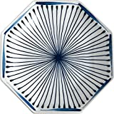 LIXUE Japanische Kreative Achteckige Teller Keramikgeschirr Teller Home Unterglasur Reisschüssel