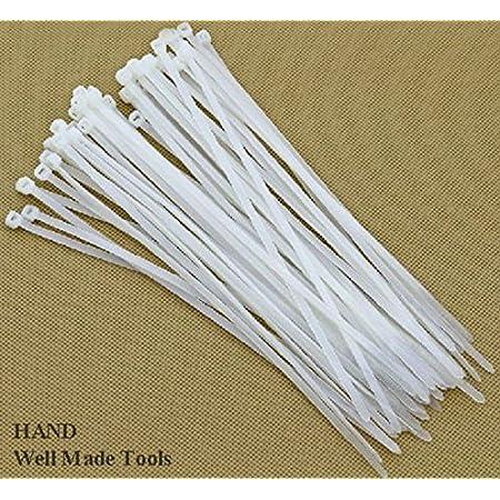 1000PCS White Nylon Cable Wire Zip Ties Self-locking Nylon Tie  With 3*120mm MW