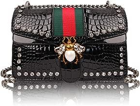 OLYLY Designer Shoulder Bag for Women, Fashion Bee Crossbody Bag Handbags with Chain