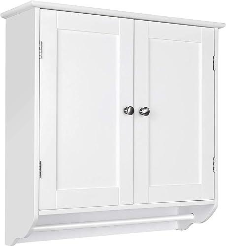 HOMFA Bathroom Wall Cabinet, Over The Toilet Space Saver Storage Cabinet Kitchen Medicine Cabinet Doule Door Cupboard...