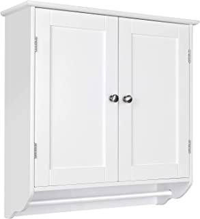 HOMFA Bathroom Wall Cabinet, Over The Toilet Space Saver Storage Cabinet Kitchen Medicine Cabinet Doule Door Cupboard with...