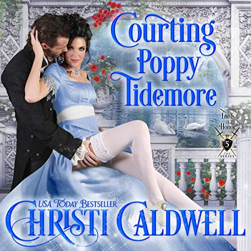 Courting Poppy Tidemore  audiobook cover art