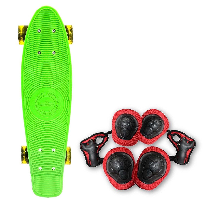 DABADA(ダバダ) スケートボード スケボー ペニータイプ ミニクルーザータイプ プロテクター 3点セット付き