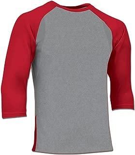 CHAMPRO Extra Innings 3/4 Sleeve Baseball Shirt; XL; Grey