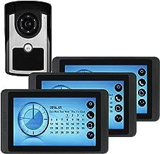 Video Deurbel, Intercom, Deur Entry System, Wired 7 Inch Touchscreen Monitor Video Deurtelefoon, Outdoor IR Night Vision C...