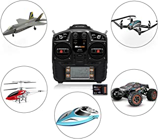 RC Remote and Receiver,Rcharlance 2.4G 8CH Remote Controller RC Transmitter with 9CH Receiver Support CH5-CH8 Flexible Customizationfor RC Racing Drone Helicopters Car Boat Fixed-wing Aircraft