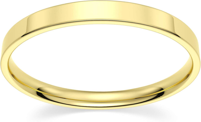 Under blast sales 10k Inexpensive Yellow Gold 2mm Light Comfort Band Flat Fit Wedding