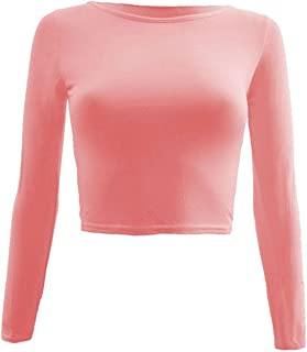 FashionMark Womens Plain Sleeveless Polo Neck Casual Stretchy Crop Top