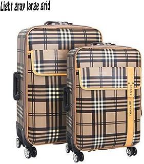 Trolley Case Bagage de Chariot de Mode Valise portab 36 * 24 * 58cm, 4 roues, bagage à Main de coquil dure légère avec la serrure de mot de passe(24inches,Brown) Travel Luggage Carry-Ons