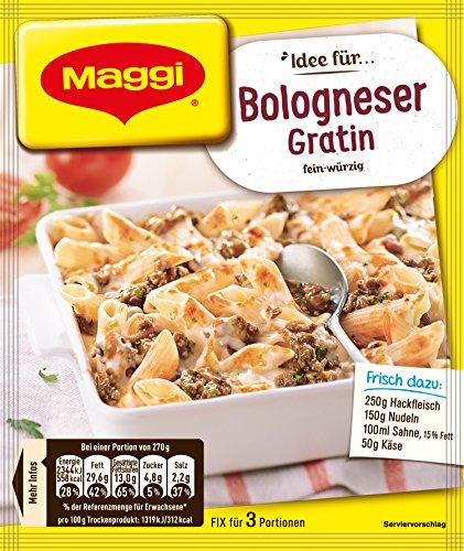 Maggi Fix für Bologneser Gratin, Nudeln mit Hackfleisch, Majoran, Petersilie und Oregano, 1er Pack (1 x 35g)
