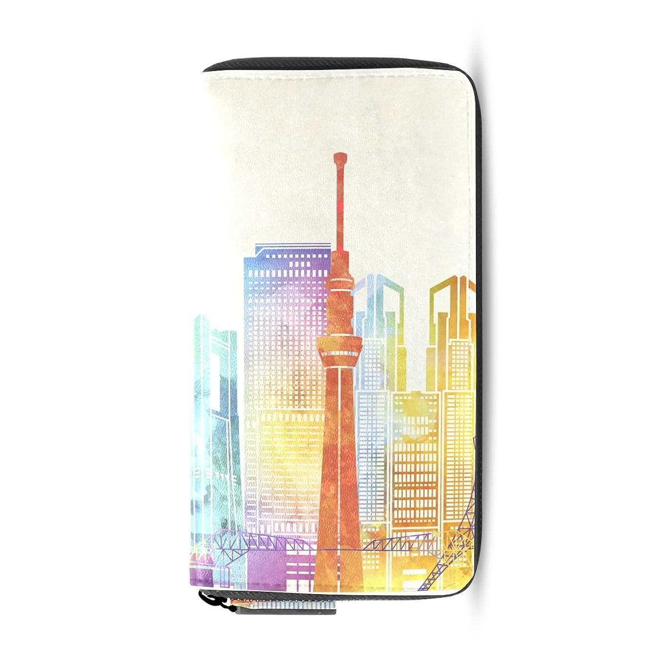 繁栄する弁護人ブランド名AOMOKI 長財布 財布 レディース 大容量 PUレザー 幅20*丈11cm 東京タワー
