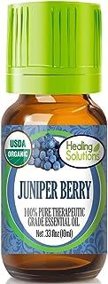 Organic Juniper Berry Essential Oil (100% Pure - USDA Certified Organic) Best Therapeutic Grade Essential Oil - 10 ml