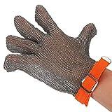 Guantes de acero inoxidable resistente al corte de acero inoxidable, guantes de seguridad Alambre de acero Metal de malla Carnicero de nailon y acero inoxidable