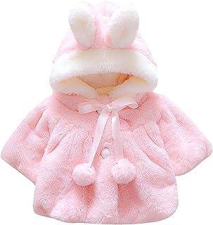 EDOTON Abrigos Bebé, Niña Infant Ropa Otoño Invierno Chaqueta con Oreja de Conejo Capucha Grueso Capa para Bebés Niña 0-36...