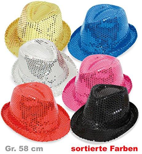 Déguisement chapeau rouge 38557 paillettenhut damenhut neuf/emballage d'origine