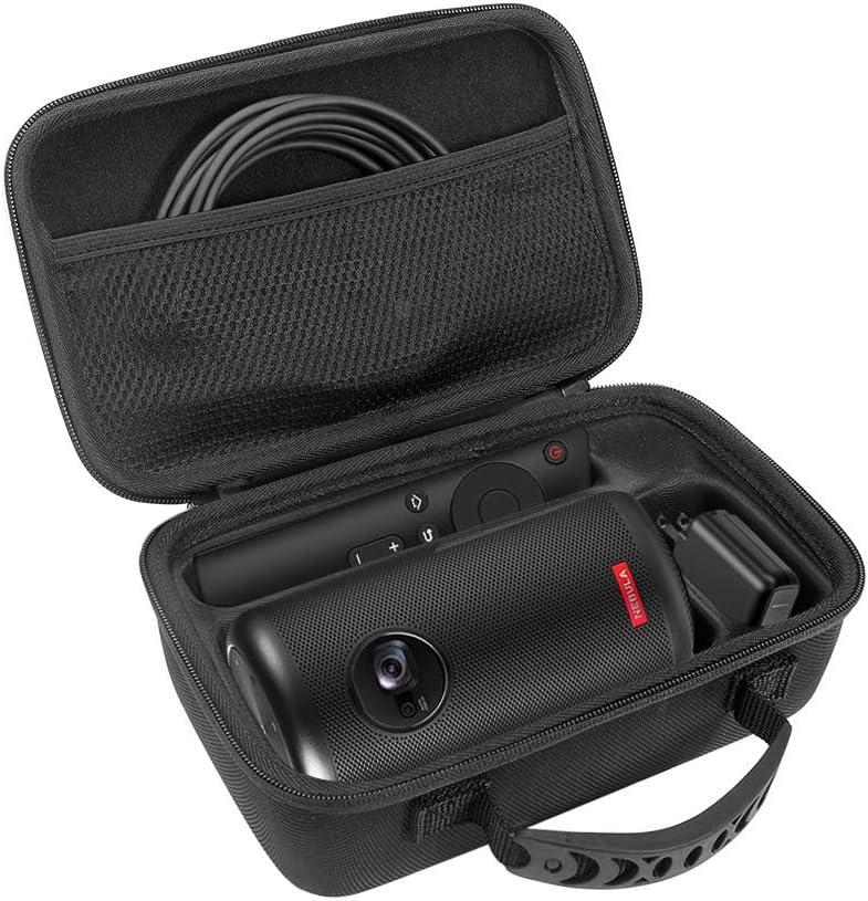 Esimen Hard Case for Nebula Capsule II / Nebula Capsule Max Smart Mini Projector by Anker and Remote Control USB Flash Drive Accessories Carry Bag Protective Storage Box (Black)