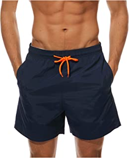 CHENtian1 Men's Swim Trunks 2021 Men Drawstring Beach Casual Built-in Compression Liner Swim Shorts Workout Bathing Suits ...