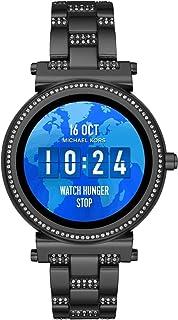 Michael Kors Women's Sofie Smartphone Watch with LCD Display Black MKT5035