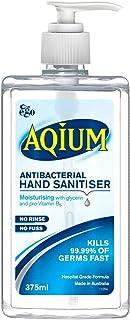 Aqium Antibacterial Hand Sanitiser Gel, 375 milliliters