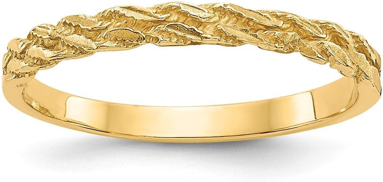 Beautiful Yellow gold 14K Yellowgold 14k Diamondcut Rope Ring