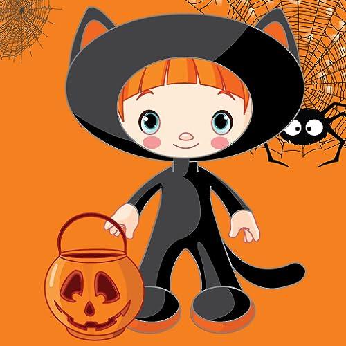 Dress up Halloweenfür Kinder - lustige und lehrreiche Puzzle Lernspiel für Vorschulkindergarten oder Kleinkinder, Jungen und Mädchen jeden Alters