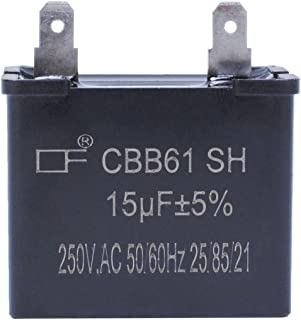 WPW10662129 Capacitor Refrigerator for Whirlpool 2169373 W10662129 AP6023677 15uf 250VAC Replacement 2LFA5700W1 3LFA5700W1 3ED22DWXTN01Models