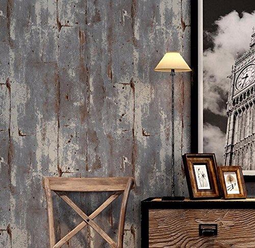 PEIWENIN-Retratos Retro Llanura Papeles Pintados Nonwovens Cementos Paredes Patrones Industrial Estilo Fondos Bares Restaurante Cafés Arte Individual Pegatinas, púrpura