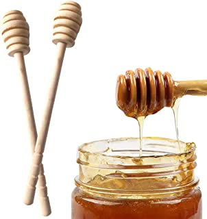 Bundle of 2, Goolsky High Quality Honey Stir Bar Mixing Handle Jar Spoon Practical 1Pc Wood Dipper Honey Long Stick Suppli...
