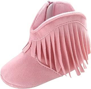 Baby Girl's Tassel Soft Bottom Non-Slip Cowboy Boots Toddler Shoes