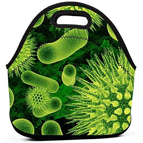 Bolsa De Almuerzo,Bolsa De Asas Portátil Multifuncional Verde Biomoléculas,Bolsa De Bento Reutilizable De Almacenamiento De Alimentos De Neopreno