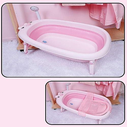 TYZY Größe Raum-Bauchwanne Faltbare tragbare Kinderbadewanne Baby-Duschset kann sitzen liegen für 0 bis 6 Jahre alt