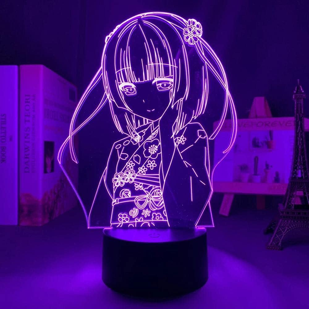 Shigure Los Angeles Mall Minaduki Japanese Sale Anime Light Sign Illusion LED Lamp 3D