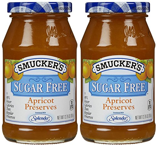 Smucker s Sugar Free Preserves with Splenda-Apricot-12.75 Oz-2 Pack