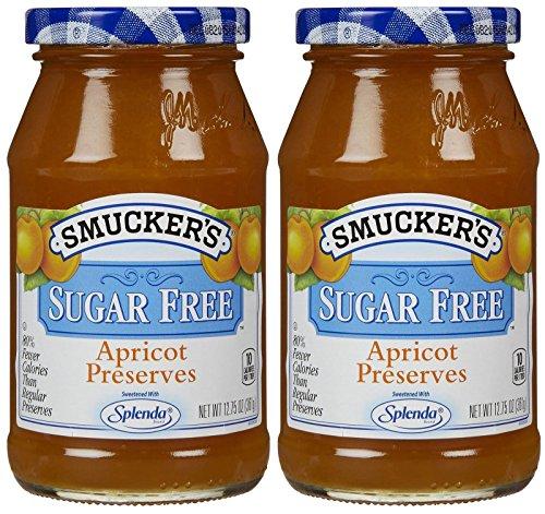 Smucker s Sugar Free Preserves with Splenda-Apricot-12.75 Oz-2 Pack