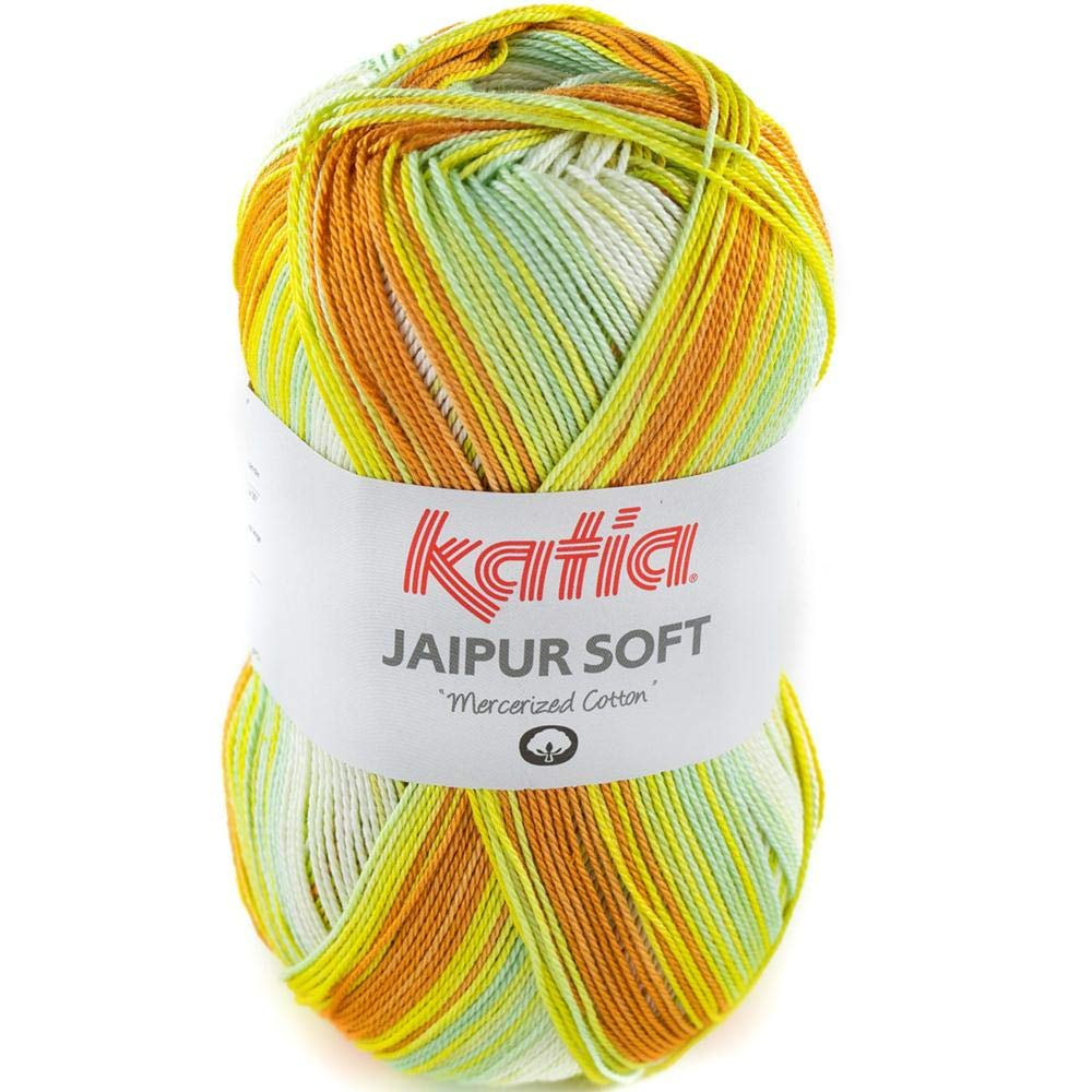 Lanas Katia Jaipur Soft Ovillo de Color Mostaza Cod. 108: Amazon.es: Hogar