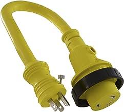 Conntek 14405 RV/Marine Pigtail Adapter Standard US 15 Amp w/Locking Screw to 30 Amp Locking w/LED Indicator