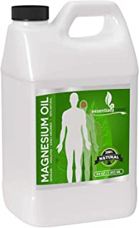 Magnesium Oil Spray - Large Half Gallon (64oz Size) - Extra Strength - 100% Pure for Less Sting - Less Itch - Natural Pain...