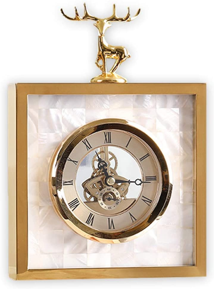 Nhlzj Exquisite Jewelry Light El Paso Mall Decorations Deer Deco Clock High quality Small