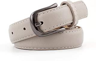 MYCHOMEUU Women's Belt Wild Fashion pin Buckle Creative Gun Buckle Solid Color Belt Female (Color : Grey, Size : 105 * 2.4cm)